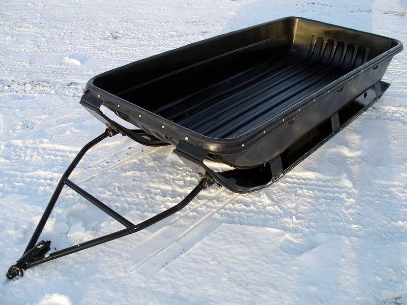доставляем ваши самодельные сани к снегоходу фото случае